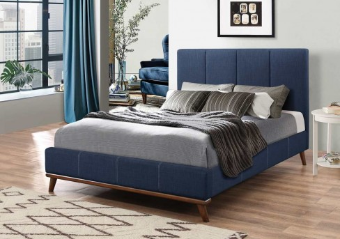 Coaster Charity Blue Queen Bed Available Online in Dallas Fort Worth Texas
