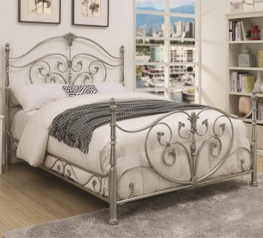 Coaster Evita Chrome Queen Metal Bed Available Online in Dallas Fort Worth Texas