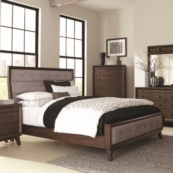 Coaster Bingham Brown Oak Queen Panel Bed Available Online in Dallas Fort Worth Texas