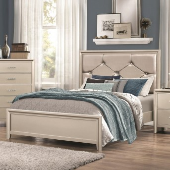 Coaster Lana Silver Queen Panel Bed Available Online in Dallas Fort Worth Texas