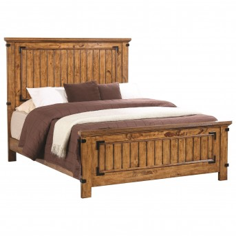 Coaster Brenner Rustic Honey Queen Panel Bed Available Online in Dallas Fort Worth Texas