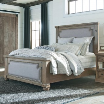 Coaster Florence Solid Pine Upholstered Queen Bed Available Online in Dallas Fort Worth Texas