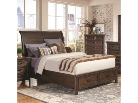 Coaster Ives Queen Sleigh Bed Available Online in Dallas Fort Worth Texas