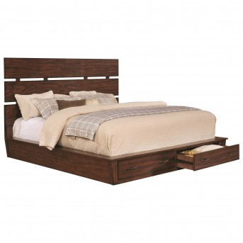 Coaster Artesia Dark Cocoa Queen Platform Storage bed Available Online in Dallas Fort Worth Texas