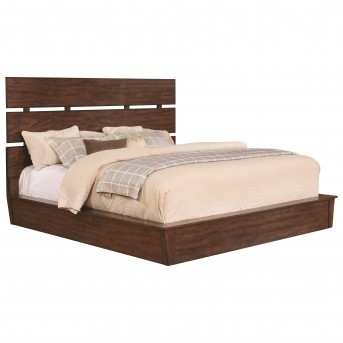 Coaster Artesia Dark Cocoa Queen Platform Bed Available Online in Dallas Fort Worth Texas