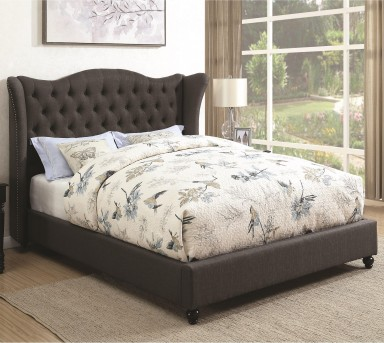 Coaster Newburgh Slate Gray King Upholstered Platform Bed Available Online in Dallas Fort Worth Texas