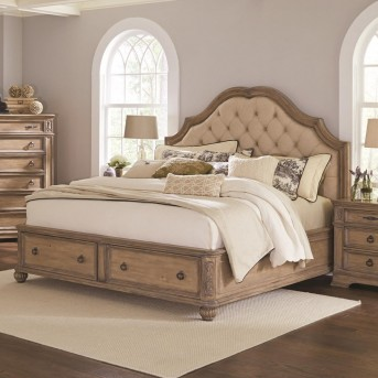 Coaster Ilana Antique Linen King Panel Storage Bed Available Online in Dallas Fort Worth Texas