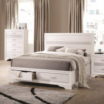 Coaster Miranda White King Storage Platform Bed Available Online in Dallas Fort Worth Texas