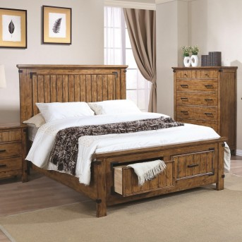 Coaster Brenner Rustic Honey King Panel Storage Bed Available Online in Dallas Fort Worth Texas