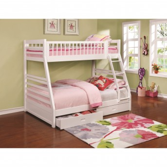 Coaster Ashton White Twin and Full Bunk Bed Available Online in Dallas Fort Worth Texas