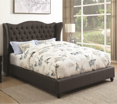 Coaster Newburgh Slate Grey Twin Upholstered Platform Bed Available Online in Dallas Fort Worth Texas