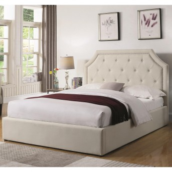 Coaster Hermosa Beige Full Upholstered Platform Bed Available Online in Dallas Fort Worth Texas