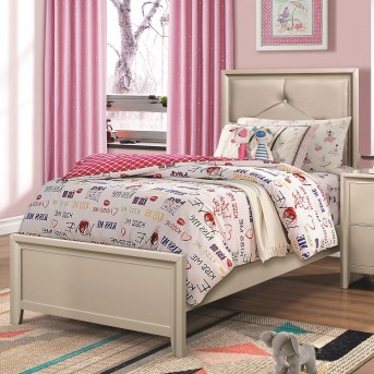 Coaster Lana Silver Twin Panel Bed Available Online in Dallas Fort Worth Texas