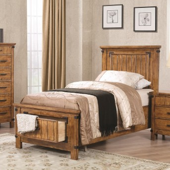 Coaster Brenner Rustic Honey Twin Panel Storage Bed Available Online in Dallas Fort Worth Texas