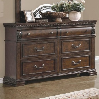 Coaster Satterfield Warm Bourbon Dresser Available Online in Dallas Fort Worth Texas
