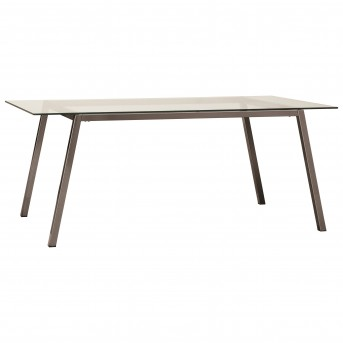 Coaster Inslee Glass Top Rectangular Dining Table Available Online in Dallas Fort Worth Texas