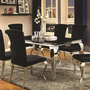 Coaster Carone Black Rectangular Dining Table Available Online in Dallas Fort Worth Texas