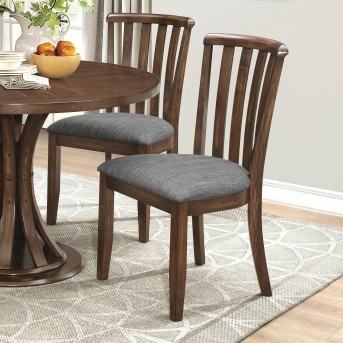 Coaster Prescott Grey Upholstered Dining Chair Available Online in Dallas Fort Worth Texas