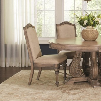 Coaster Ilana Antique Linen Side Chair Available Online in Dallas Fort Worth Texas