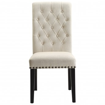 Coaster Parkins Cream Upholstered Side Chair Available Online in Dallas Fort Worth Texas