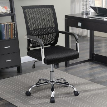 Coaster Florance Black Fabric Office Chair Available Online in Dallas Fort Worth Texas