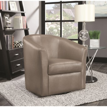 Coaster Ballod Dark Brown Accent Swivel Chair Available Online in Dallas Fort Worth Texas