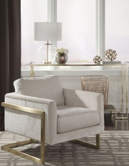 Coaster Gorges Birch/Chrome Accent Chair Available Online in Dallas Fort Worth Texas