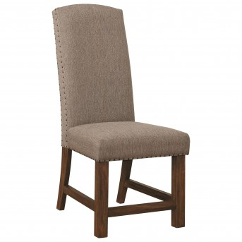 Coaster Atwater Grey Upholstered Parson Chair Available Online in Dallas Fort Worth Texas