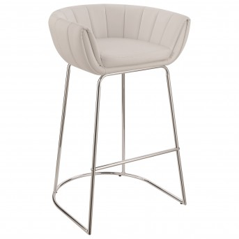 Coaster Dixon White and Chrome Bar Stool Available Online in Dallas Fort Worth Texas