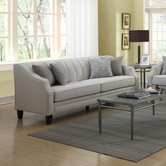 Coaster Loxley Grey Sofa Available Online in Dallas Fort Worth Texas