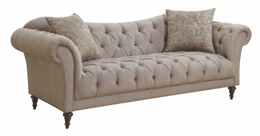 Coaster Alasdair Light Brown Loveseat Available Online in Dallas Fort Worth Texas