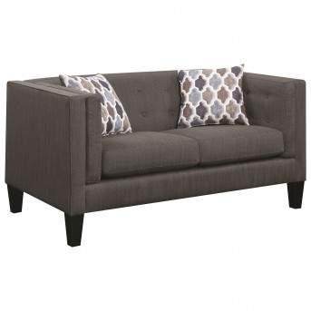 Coaster Sawyer Dusty Blue Loveseat Available Online in Dallas Fort Worth Texas