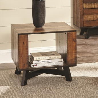 Coaster Scott Tobacco and Black Sand Off End Table Available Online in Dallas Fort Worth Texas