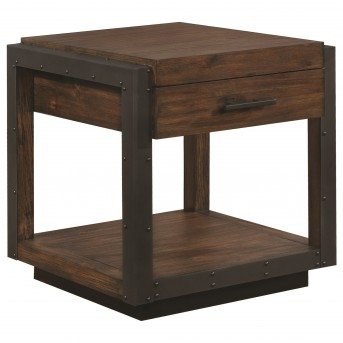 Coaster Scott Vintage Bourbon End Table Available Online in Dallas Fort Worth Texas