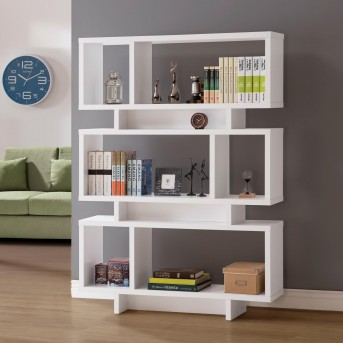 Coaster Newburgh White Bookcase Available Online in Dallas Fort Worth Texas