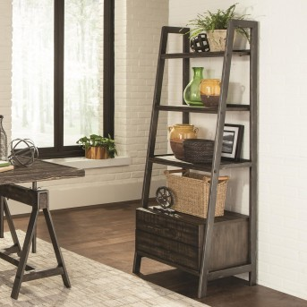 Coaster Deponte Burnished Cognac Bookcase Available Online in Dallas Fort Worth Texas