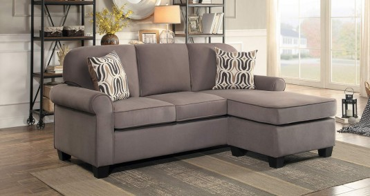 Homelegance Sprague Fossil Reversible Sofa Chaise Available Online in Dallas Fort Worth Texas