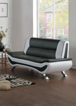 Homelegance Veloce Black/Ivory Love Seat Available Online in Dallas Fort Worth Texas