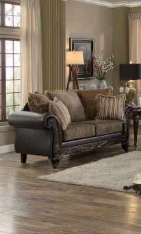 Homelegance Thibodaux Dark Brown Loveseat Available Online in Dallas Fort Worth Texas