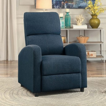 Homelegance Warrick Blue Push Back Reclining Chair Available Online in Dallas Fort Worth Texas