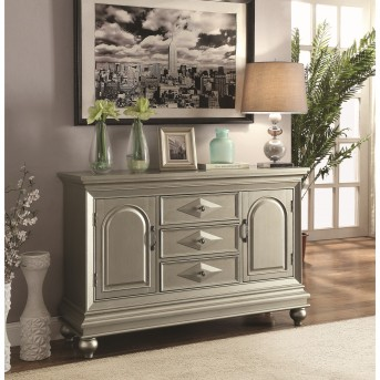 Coaster Franco Glamorous Metallic 3 Drawer Accent Cabinet Available Online in Dallas Fort Worth Texas