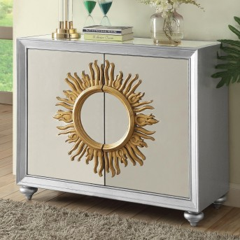 Coaster Florence Silver Accent Cabinet Available Online in Dallas Fort Worth Texas
