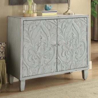 Coaster Florence Grey 2 Door Accent Cabinet Available Online in Dallas Fort Worth Texas