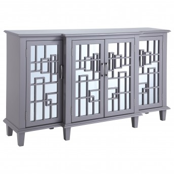 Coaster Franco Taupe 4 Mirrored Door Accent Cabinet Available Online in Dallas Fort Worth Texas