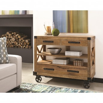 Coaster Florence Natural Mango Drawer Accent Cabinet Available Online in Dallas Fort Worth Texas