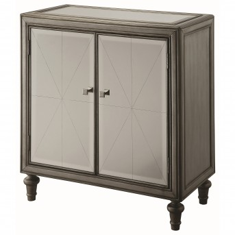 Coaster Hampton Mirror and Silver Accent Cabinet Available Online in Dallas Fort Worth Texas