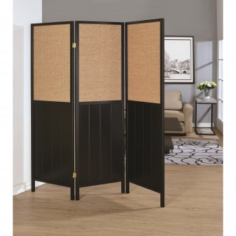 Coaster Florance Black Folding Screen Available Online in Dallas Fort Worth Texas