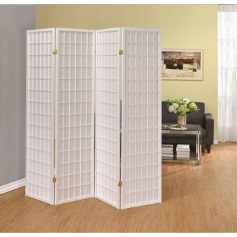 Coaster Florance White Folding Screen Available Online in Dallas Fort Worth Texas