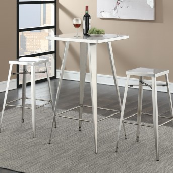 Coaster Scott Silver Square Bar Table Available Online in Dallas Fort Worth Texas