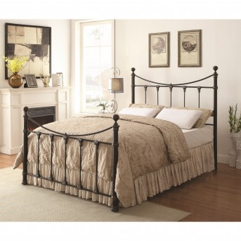 Coaster Gideon Black King-Sized Metal Bed Available Online in Dallas Fort Worth Texas